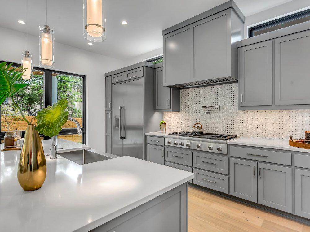 Matte gray kitchen design, Anne Arundel County, Johnson Lumber