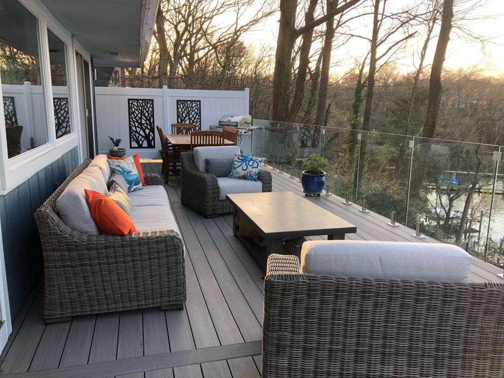 new Azek balcony deck install