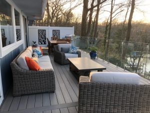 new Azek balcony deck install, Johnson Lumber, Anne Arundel, MD Lumber, Millwork, & Builders' Materials